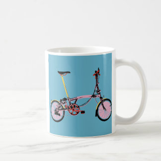 Brompton Side View BluePink Coffee Mug