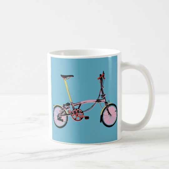 Brompton Side View BluePink Coffee Mug