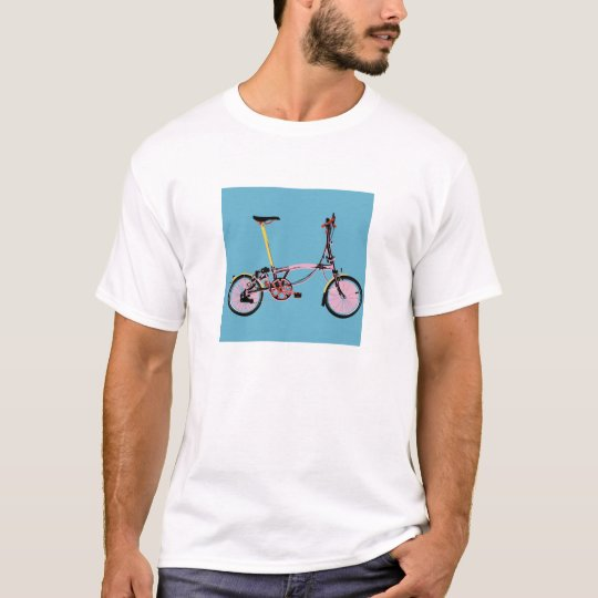 Brompton Side View BluePink T-Shirt
