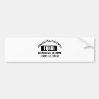 Bronc Rider Job designs Bumper Sticker
