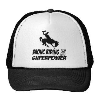 bronc riding my superpower mesh hats