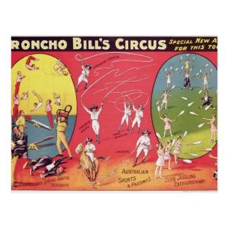 Broncho Bill s Circus Birmingham c 1890-1910 Postcard