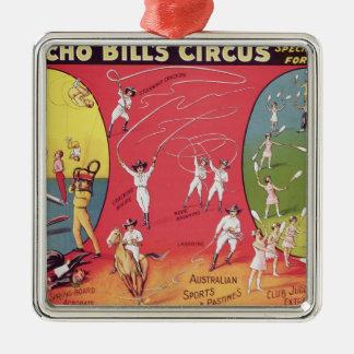 Broncho Bill's Circus, Birmingham c.1890-1910 Christmas Ornament