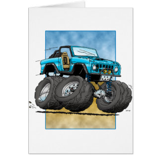 Bronco_Blue.png Greeting Card