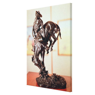 Bronco-Buster (bronze) Canvas Prints