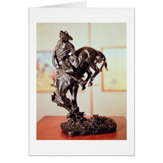 Bronco-Buster (bronze) Greeting Card