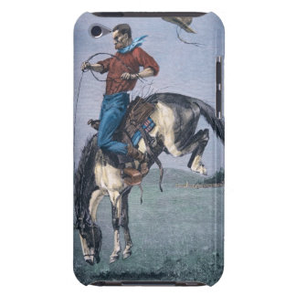 Bronco-Buster (coloured engraving) iPod Touch Case