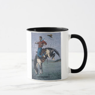 Bronco-Buster (coloured engraving) Mug