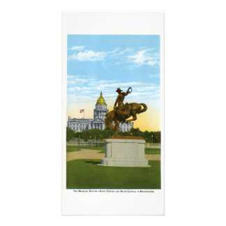 Bronco Buster, Denver, Colorado Photo Card Template