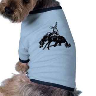 Bronco Buster Ringer Dog Shirt