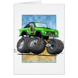 Bronco_Green.png Greeting Card