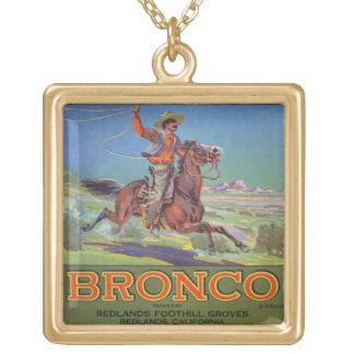'Bronco Oranges', c.1900 (colour litho) Gold Plated Necklace