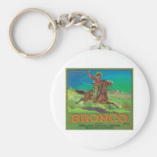 Bronco Vintage Fruit Label Basic Round Button Key Ring