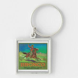 Bronco Vintage Fruit Label Key Chains