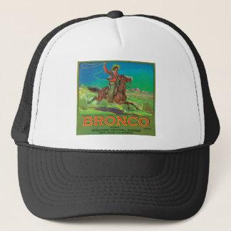 Bronco Vintage Fruit Label Trucker Hat