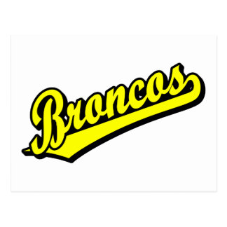 Broncos in Yellow Postcard
