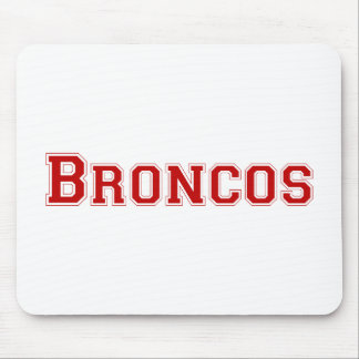Broncos square logo in red mouse pads