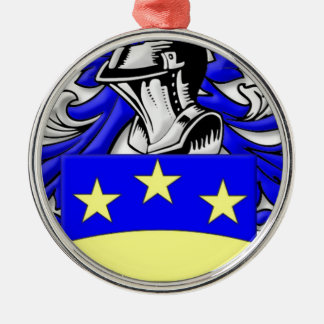 Brongo Coat of Arms Silver-Colored Round Decoration