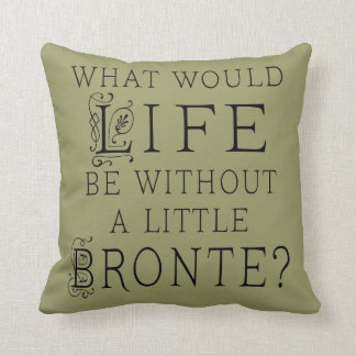 Bronte Book Lover Quote Pillow