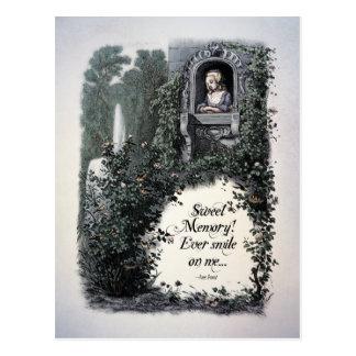 Brontë Sweet Memory Victorian Postcard