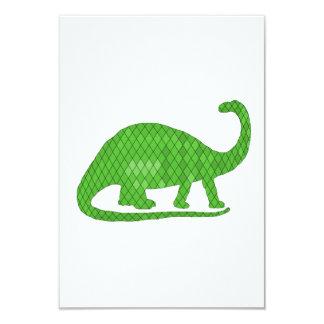 brontosaurus 9 cm x 13 cm invitation card