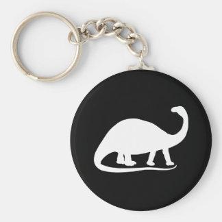 Brontosaurus Basic Round Button Key Ring