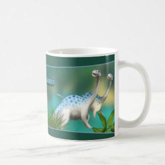 Brontosaurus Basic White Mug