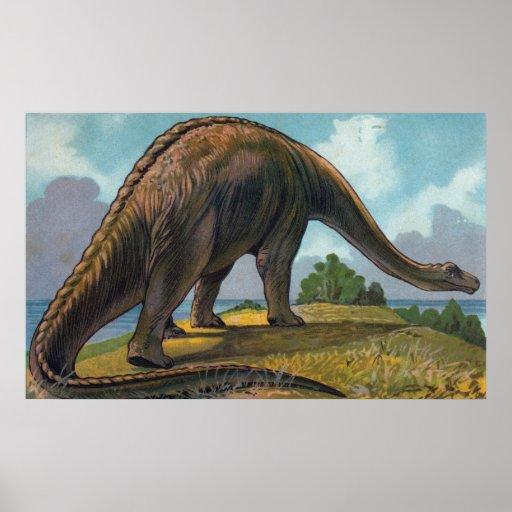 Brontosaurus Dinosaur Antique Print