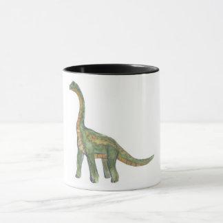 Brontosaurus dinosaur mug
