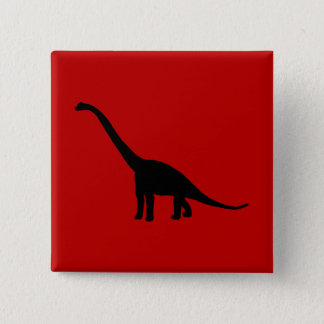 Brontosaurus Dinosaur Shadow Prehistoric Animals 15 Cm Square Badge