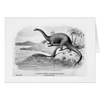 Brontosaurus excelsus art card