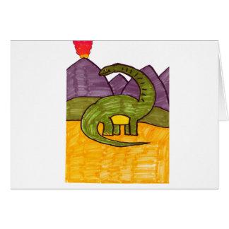 Brontosaurus Greeting Card