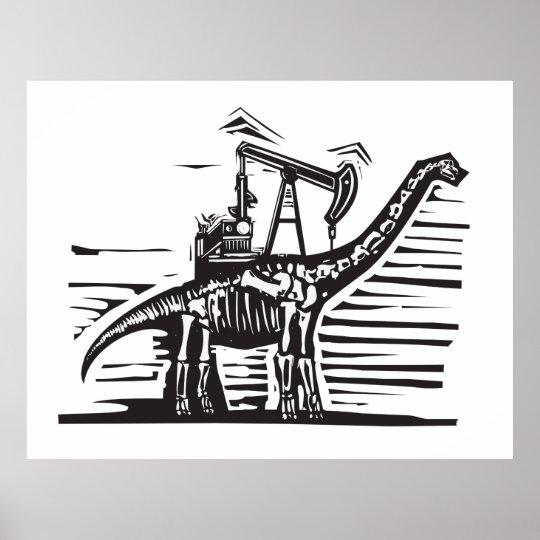 Brontosaurus Oil Well Pump Poster