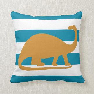 brontosaurus throw pillow