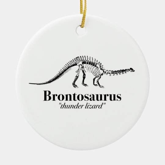 Brontosaurus Thunder Lizard Dinosaur Skeleton Cool Christmas