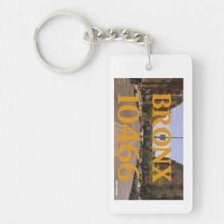 Bronx 10466 key-chain Single-Sided rectangular acrylic key ring