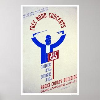 Bronx Band Concert 1940 WPA Poster