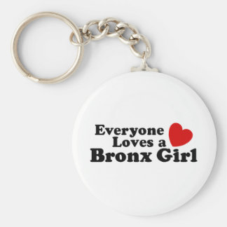 Bronx Girl Basic Round Button Key Ring