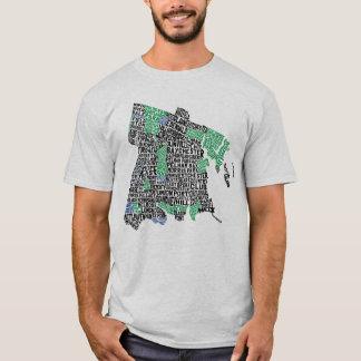 Bronx New York City Typography Map Tee