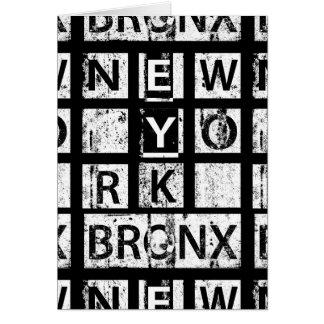 Bronx New York | Grunge Typography Card