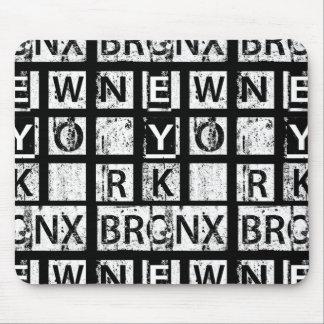 Bronx New York | Grunge Typography Mouse Mat