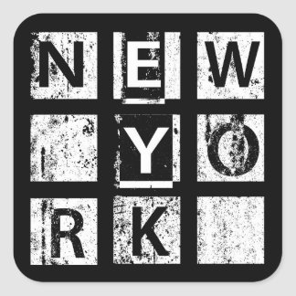 Bronx New York   Grunge Typography Square Sticker