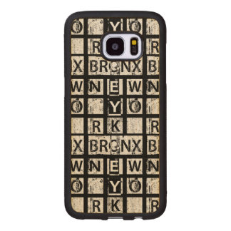 Bronx New York | Grunge Typography Wood Samsung Galaxy S7 Edge Case