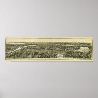 Bronx NY, 1897: Old Print