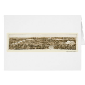 Bronx, NY Panoramic Map - 1897 Card
