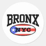 Bronx Puerto Rican Round Stickers