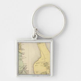 Bronx Westchester County New York Silver-Colored Square Key Ring