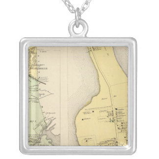 Bronx Westchester County New York Silver Plated Necklace