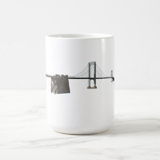 Bronx Whitestone Bridge: 3D Model: Coffee Mug