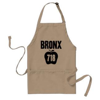 Bronx With Big Apple 718 Area Code Cutout Apron